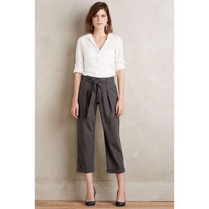 Cartonnier Gray Belted Barton Trousers